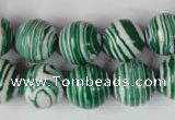 CTU1130 15.5 inches 14mm round synthetic turquoise beads wholesale