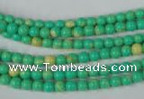 CTU1160 15.5 inches 4mm round synthetic turquoise beads wholesale