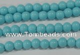 CTU1211 15.5 inches 6mm round synthetic turquoise beads