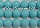 CTU1215 15.5 inches 14mm round synthetic turquoise beads