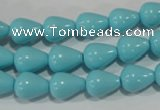 CTU1237 15.5 inches 9*11mm teardrop synthetic turquoise beads