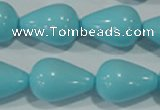 CTU1240 15.5 inches 15*25mm teardrop synthetic turquoise beads