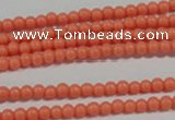 CTU1309 15.5 inches 2mm round synthetic turquoise beads