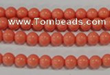 CTU1312 15.5 inches 6mm round synthetic turquoise beads