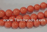 CTU1313 15.5 inches 8mm round synthetic turquoise beads