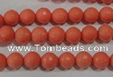 CTU1323 15.5 inches 8mm faceted round synthetic turquoise beads