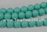 CTU1383 15.5 inches 8mm round synthetic turquoise beads