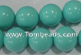 CTU1388 15.5 inches 18mm round synthetic turquoise beads