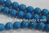 CTU1620 15.5 inches 4mm round synthetic turquoise beads