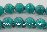 CTU1676 15.5 inches 14mm round synthetic turquoise beads