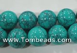 CTU1677 15.5 inches 16mm round synthetic turquoise beads
