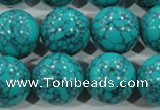 CTU1679 15.5 inches 20mm round synthetic turquoise beads