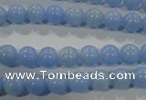 CTU1731 15.5 inches 4mm round synthetic turquoise beads