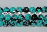 CTU1803 15.5 inches 8mm round synthetic turquoise beads