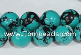 CTU1806 15.5 inches 14mm round synthetic turquoise beads