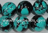 CTU1808 15.5 inches 18mm round synthetic turquoise beads