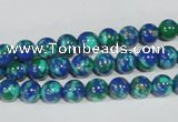 CTU1812 15.5 inches 6mm round synthetic turquoise beads