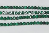 CTU1821 15.5 inches 4mm faceted round synthetic turquoise beads