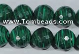 CTU1827 15.5 inches 16mm faceted round synthetic turquoise beads