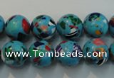 CTU2004 15.5 inches 12mm round synthetic turquoise beads