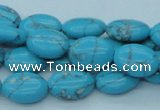 CTU201 16 inches 10*14mm oval imitation turquoise beads wholesale