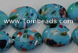CTU2022 15.5 inches 15*20mm oval synthetic turquoise beads
