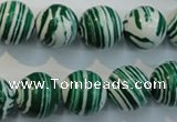 CTU2045 15.5 inches 14mm round synthetic turquoise beads