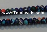 CTU2078 15.5 inches 5*8mm rondelle synthetic turquoise beads