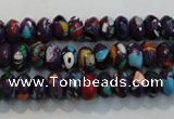CTU2118 15.5 inches 5*8mm rondelle synthetic turquoise beads