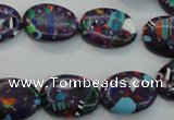 CTU2130 15.5 inches 12*16mm oval synthetic turquoise beads