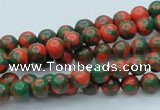 CTU214 16 inches 6mm round imitation turquoise beads wholesale