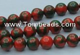 CTU215 16 inches 8mm round imitation turquoise beads wholesale
