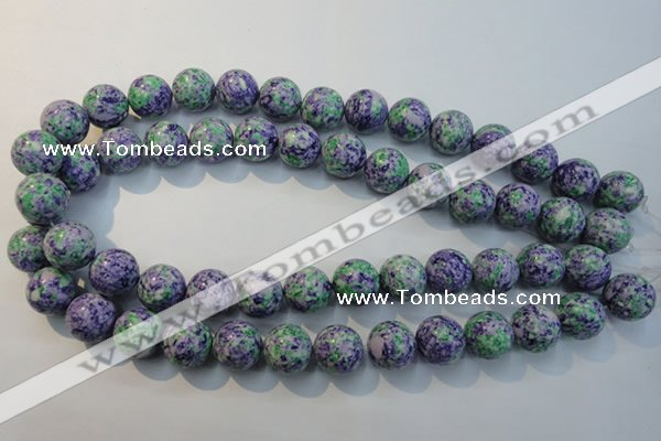 CTU2155 15.5 inches 14mm round synthetic turquoise beads