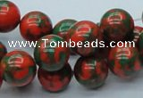 CTU217 16 inches 12mm round imitation turquoise beads wholesale