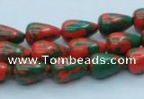 CTU218 16 inches 9*12mm teardrop imitation turquoise beads wholesale