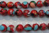 CTU2182 15.5 inches 8mm round synthetic turquoise beads