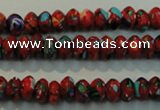CTU2188 15.5 inches 5*8mm rondelle synthetic turquoise beads