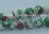 CTU225 16 inches 10mm round imitation turquoise beads wholesale