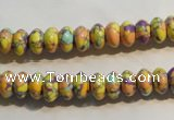 CTU2328 15.5 inches 5*8mm rondelle synthetic turquoise beads