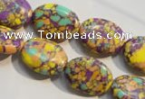 CTU2331 15.5 inches 13*18mm oval synthetic turquoise beads