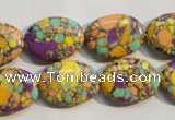 CTU2332 15.5 inches 15*20mm oval synthetic turquoise beads