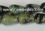 CTU2465 15.5 inches 7*10mm teardrop African turquoise beads wholesale