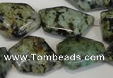 CTU2483 15.5 inches 12*18mm - 22*27mm freeform African turquoise beads