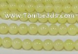 CTU2515 15.5 inches 4mm round synthetic turquoise beads