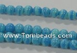 CTU2580 15.5 inches 4mm round synthetic turquoise beads