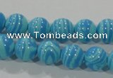 CTU2582 15.5 inches 8mm round synthetic turquoise beads