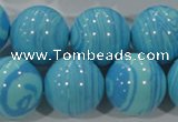 CTU2588 15.5 inches 20mm round synthetic turquoise beads