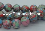 CTU260 16 inches 10mm round imitation turquoise beads wholesale
