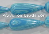 CTU2602 15.5 inches 14*40mm teardrop synthetic turquoise beads