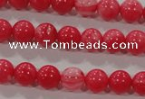 CTU2611 15.5 inches 6mm round synthetic turquoise beads
